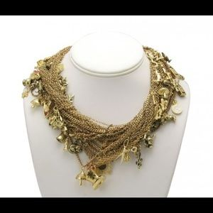 Tom Binns Disney Couture Gold Charm Necklace